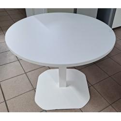 Table de réunion 80 cm blanc